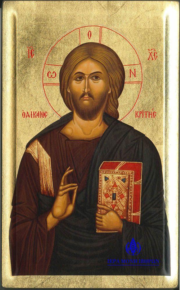 Από τη «Μεγάλη Δέησι», Αντίγραφο Ιεράς Εικόνος «ο Δίκαιος Κριτής» ή «Χριστός Παντοκράτωρ», 16 ος αι.
