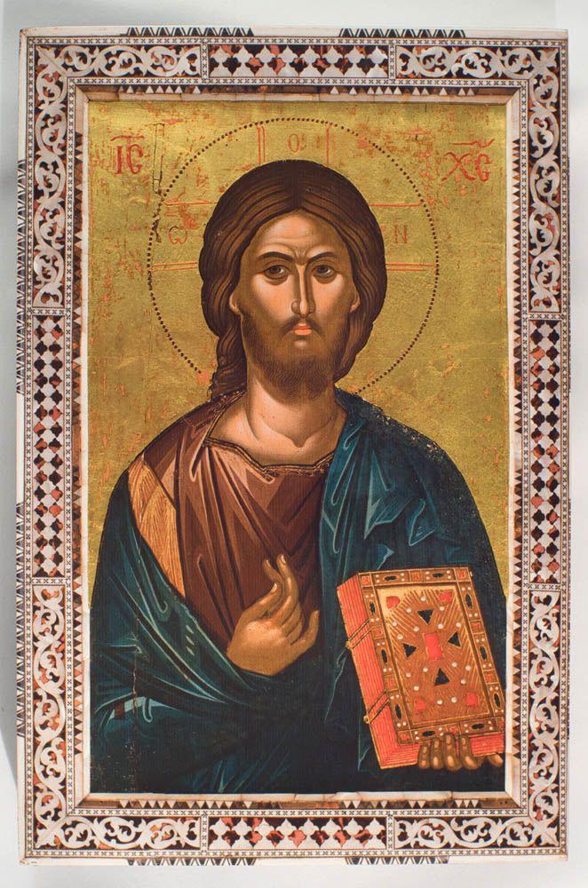 Αντίγραφο Ιεράς Εικόνας «Χριστός» του Θεοφάνους, Ιεράς Μονής Ιβήρων