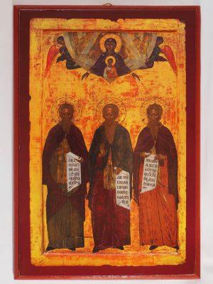 Εἰκόνα «Κτίτορες Ιεράς Μονής Ιβήρων, Ιωάννης, Ευθύμιος και Γεώργιος»