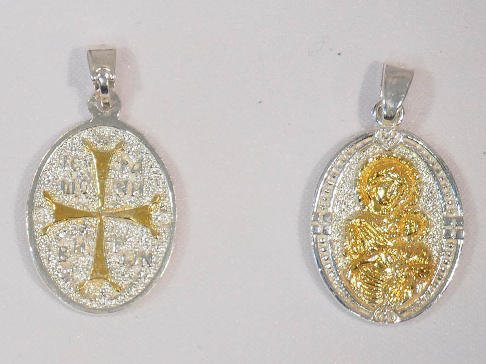 gold-plated silver medal
