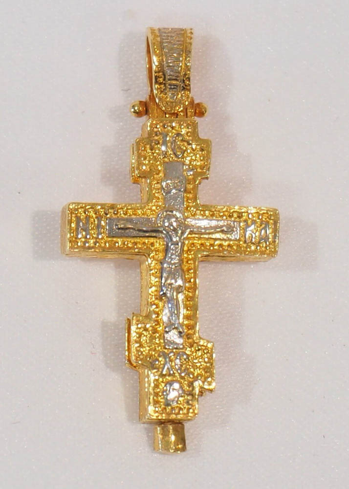 silver gold-plated cross (reliquary)