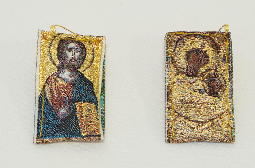 φυλαχτό με Παναγία Πορταΐτισσα και Χριστός (διπλής όψης)