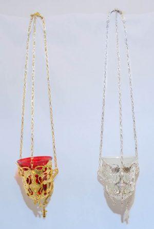 επαργυρωμένο/επιχρυσωμένο καντήλι κρεμαστό