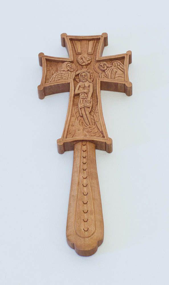 Ξυλόγλυπτος σταυρός ευλογίας