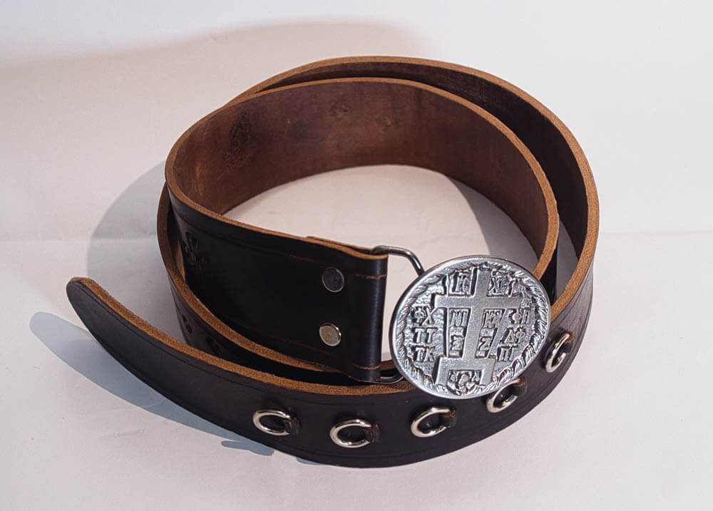 Leather monk's-belt