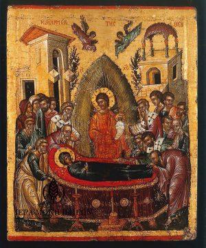 χάρτινη εικόνα Κοίμησις της Θεοτόκου