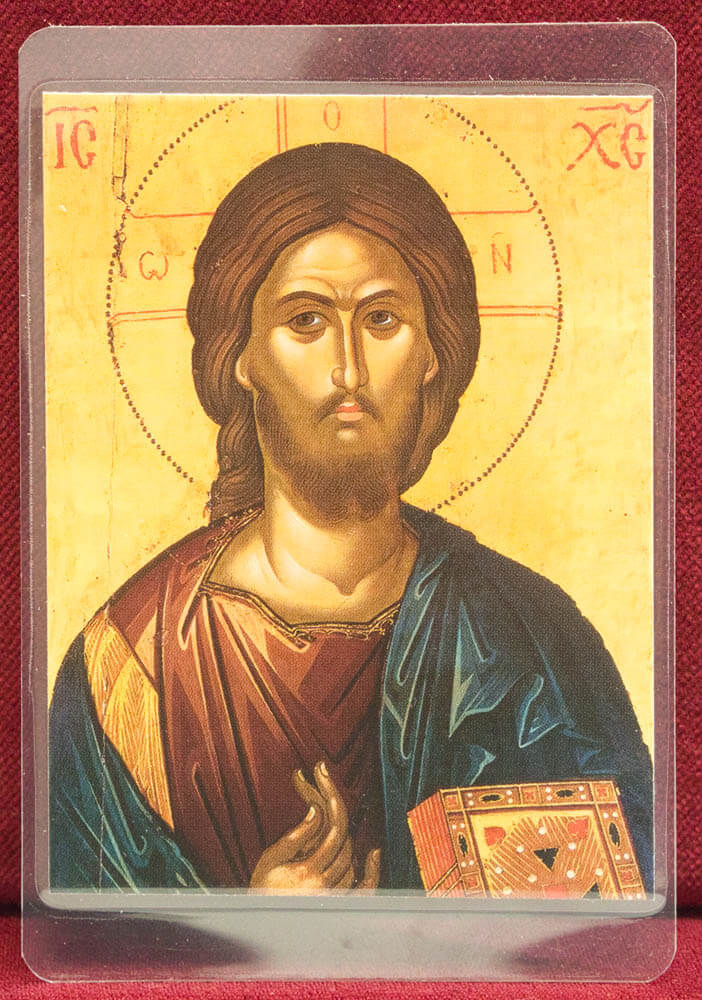 πλαστικοποιημένη εικόνα Χριστός (Θεοφάνους Κρητός)