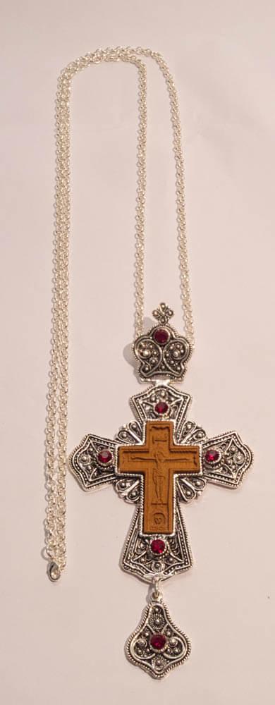 επαργυρωμένος επιστήθιος σταυρός